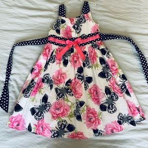 Girls Dress With Butterfly Detail Size 6